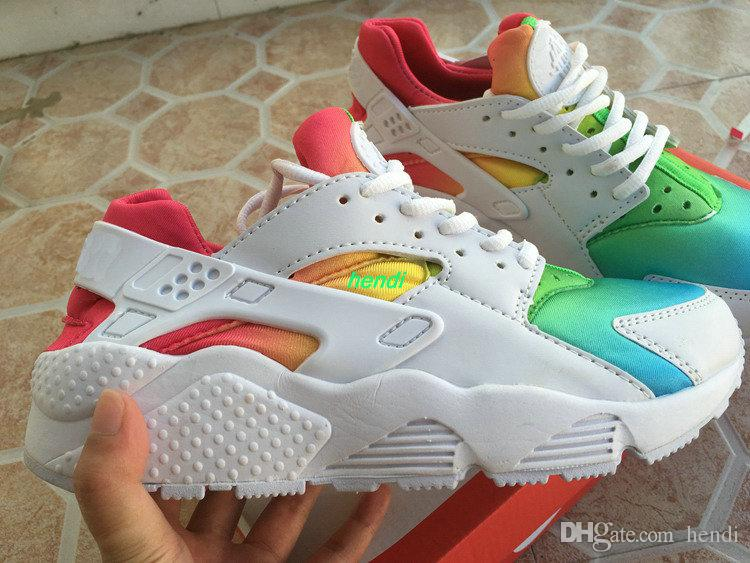 new product 5024e ffb54 coupon for pitch black custom nike air huarache x rainbow 67312 dd07f   coupon for 2018 air huarache shoes women mens boots rainbow huaraches white  black ...
