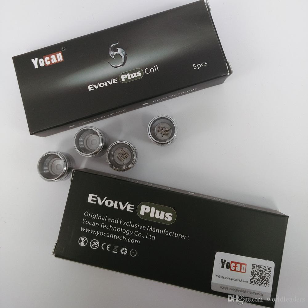 Otantik Yocan Evolve Artı Tankı Seramik Donut Rulo / Kuvars Çift Bobinler QDC Bobin Başkanı Wax Kuru Ot Atomizer değiştirin