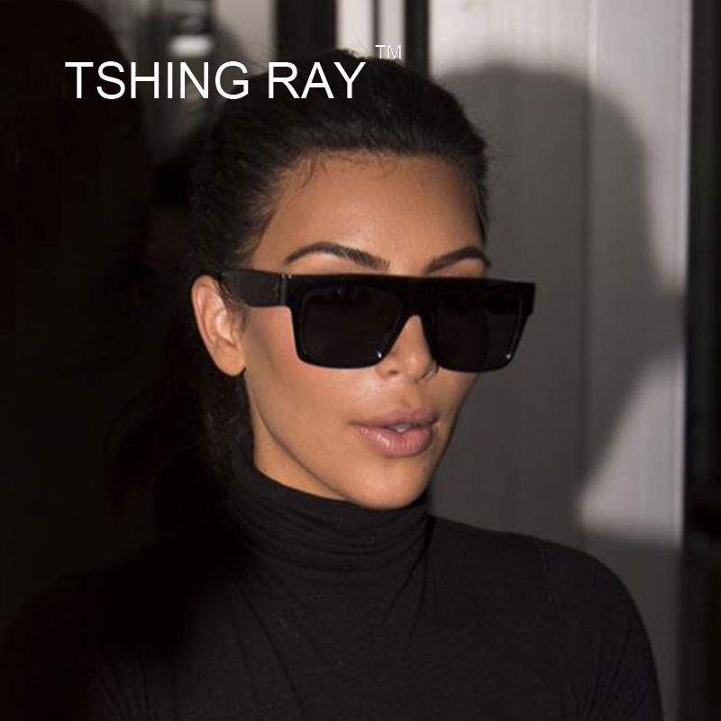 ccb122d53 Compre Tsing Ray Itália Marca Designer Quadrado Celebridade Famosa Kim  Kardashian Óculos De Sol Das Mulheres Dos Homens Óculos De Sol 50 S  Feminino Senhora ...