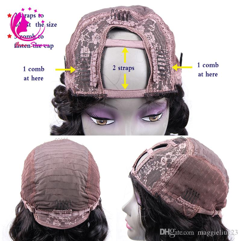الأزياء 180٪ الكثافة أومبير u أجزاء الباروكات ماليزيا ريمي مجعد upart الباروكة اثنين من لهجة الإنسان الشعر U على شكل الباروكات للنساء السود فريشيب