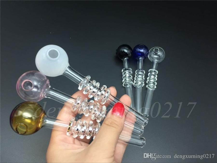 새로운 유리 물 파이프 13cm 30mm 유리 오일 버너 파이프 석유 굴착 석유 네일 파이프 담배 파이프 손 파이프