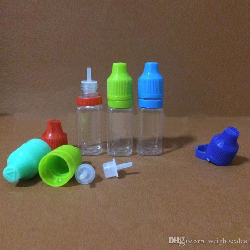 إفراغ زجاجات السائل البلاستيك القطارة مع قبعات الطفل PET والدليل على إبرة نصائح E- السائل 5ML 10ML 15ML 20ML 30ML 50ML للسجائر الإلكترونية
