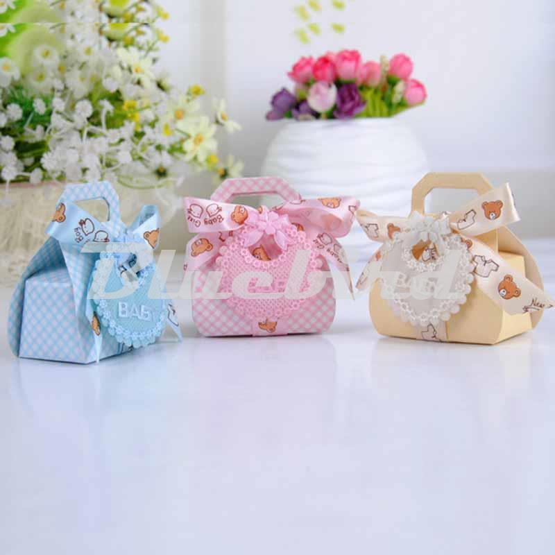Wholesale Hot Sale Baby Shower Favors Candy Box Baby Shower