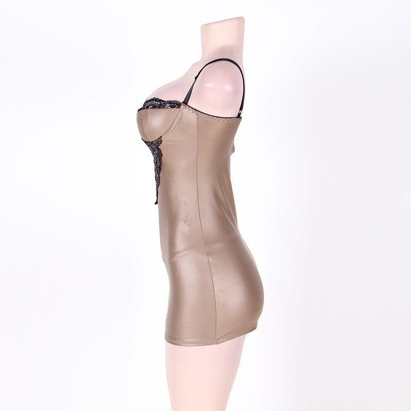 높은 품질 섹시 플러스 크기 란제리 소프트 레이스 PU 라텍스 아기 인형 여성 Nightwear 큰 사이즈 5XXXXL