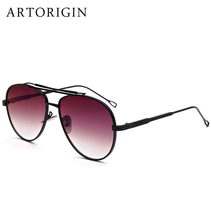 d0082f5f55 Wholesale- ARTORIGIN Mens Sunglasses Aviation Style With Fine Pattern Punk  Style Flat Mirror Glasses Shades AT876 Sunglass Sunglasses Apparel Sunglass  ...