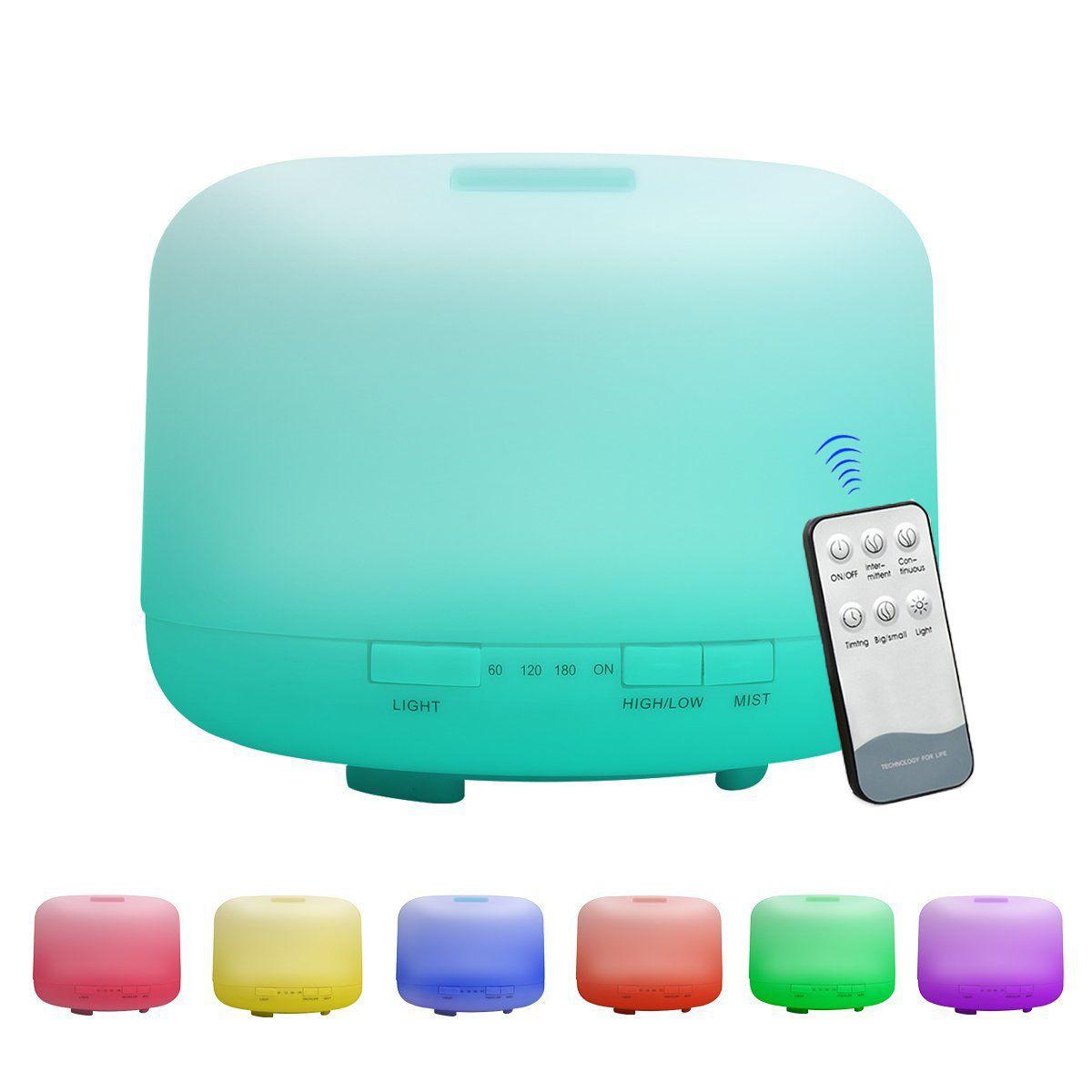 100-240v 500ml Ultrasonic 7 Color Led Timing Air Humidifier Aroma Diffuser Humidifiers