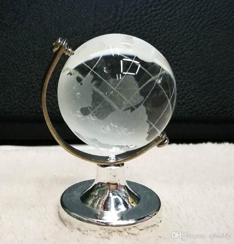 Crystal Glass Clear Desk Decor Tellurion Ornaments Gifts crystal glass earth globe Wedding Souvenirs Gifts wholesale