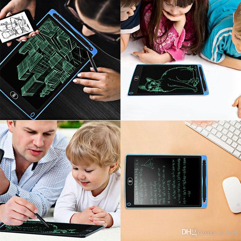 8.5 inç LCD Yazı Tablet Çizim Tahta Tahta El Yazısı Pedler Hediye Yükseltildi Pen ile Yetişkinler Çocuklar Kağıtsız Not Defteri Tablet Notlar için