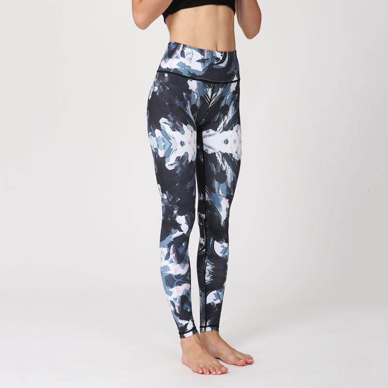 510efe91d8 2019 Printed Yoga Pants Women High Waist Stretchy Dry Fit Sports Leggings  Gym Workout Fitness Running Tights Compression Sport Tights From Guankem2,  ...
