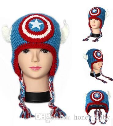 Batman Mask Super Hero Hat Baby Kids Infant Toddler Boys Girls Newborn Winter Children Beanie Crochet Knitted Skull Caps Cotton Photo Props
