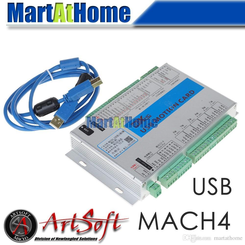 USB 2MHz Mach4 CNC 3/4/6 Axis Motion Control Card Breakout Board MK6-M4 for  Machine Centre, CNC Engraving Machine #SM782 @SD