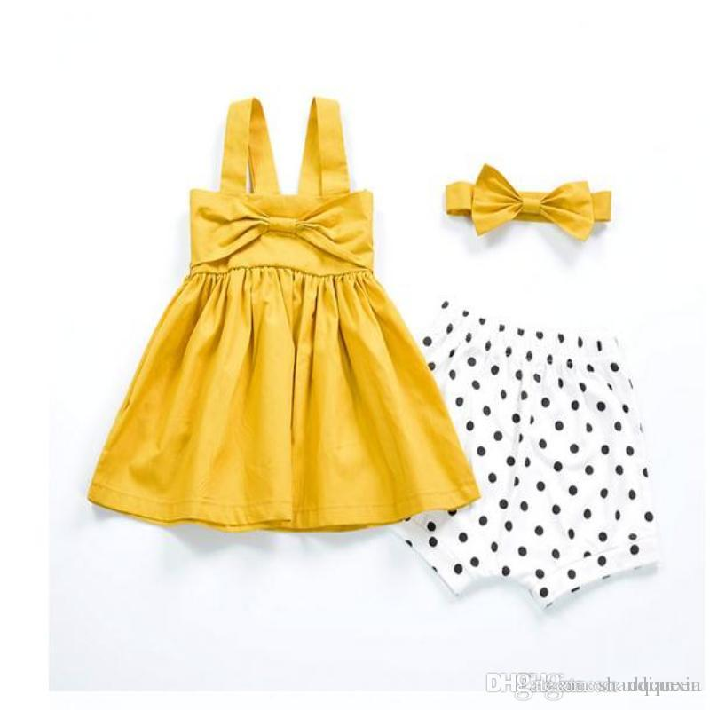 3766e7fae Summer Baby Girls Dresses Little Girl Cotton Dress Baby Bow Tutu ...