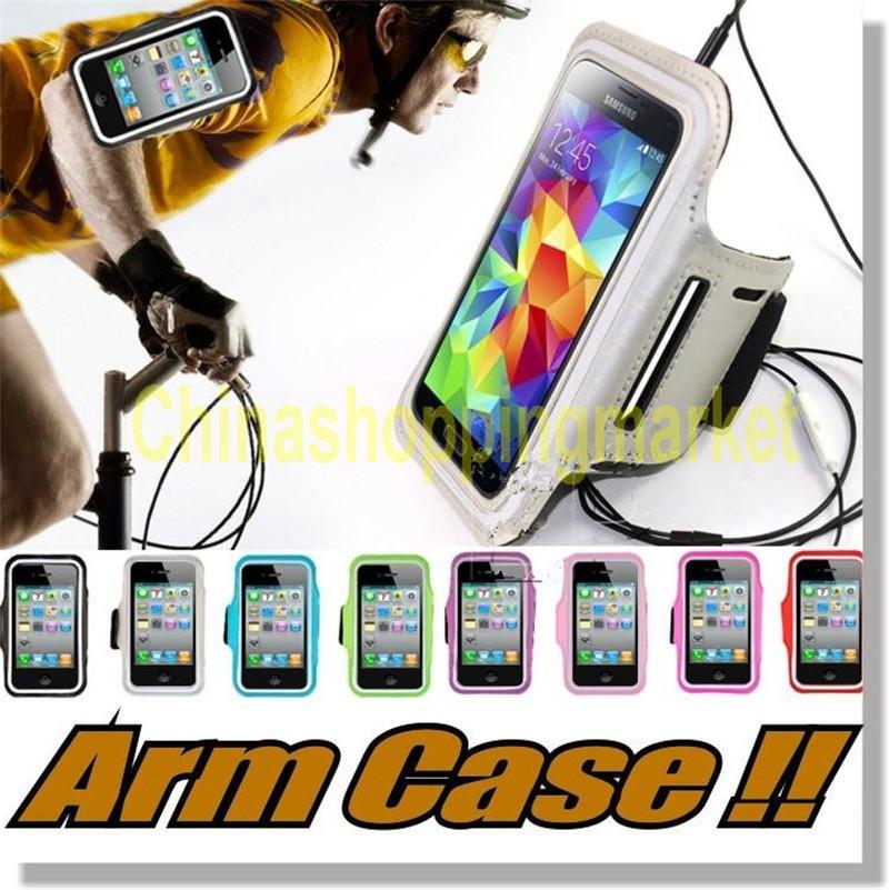 IPhone 7 için artı Kol vaka Kol Bandı kılıfları iPhone 6/6 s Egzersiz spor Kol Bandı Koşu Gym Vaka Samsung Not 7 S7 S7 Kenar S6 kenar kılıfları