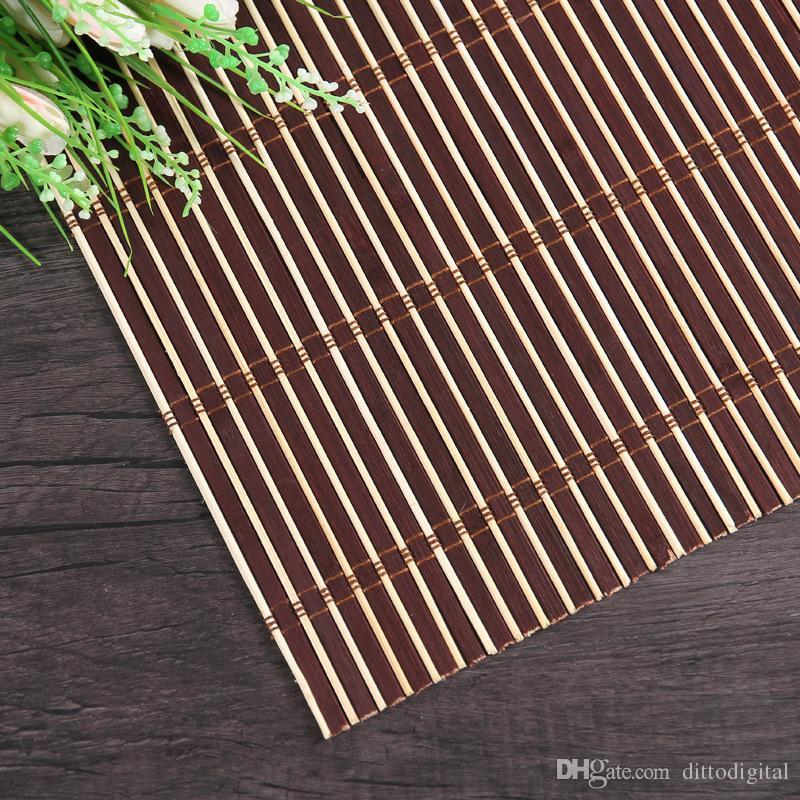 ナチュラル竹写真の背景30 * 40cm竹woveマットジュエリーの化粧品の背景としてマットの背景としての撮影3色のコーヒーレッドウッドナチュラル