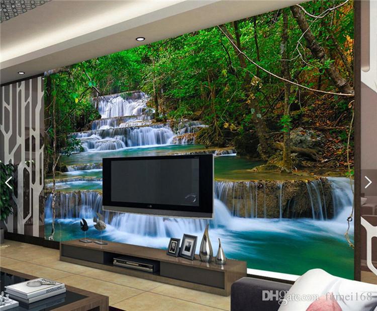 Großhandel 3d Wasserfälle Tapete Foto Wandbild Für Schlafzimmer ...