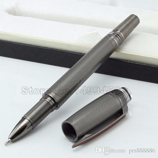 marque de luxe résine Rare placage concepteur stylo roller surfaces brossées et raccords PVD enduits mb écriture cadeaux stylo à bille