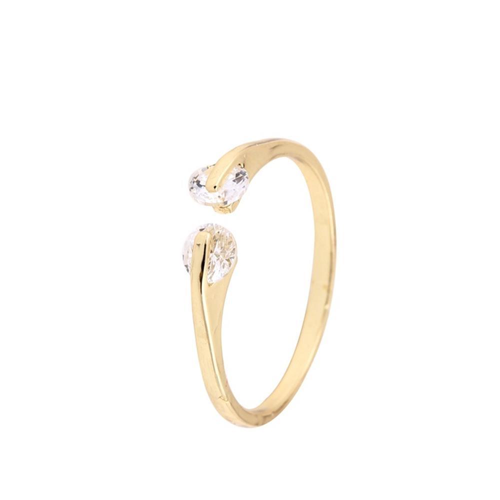 Rubin Diamant Stern Ehering Trendy Geometrische Offene Einfache Verlobungsringe Edlen Schmuck für Frau jl-355