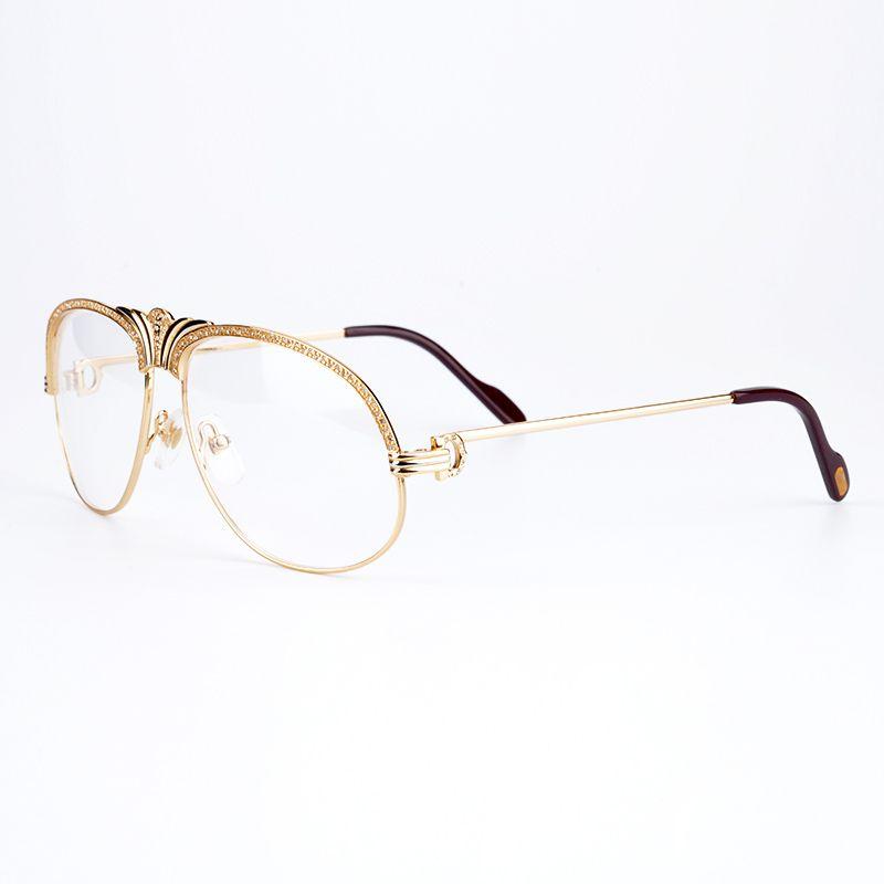 Luxury Diamonds Crown Metal Eyeglasses Frames Women Brand Designer ...