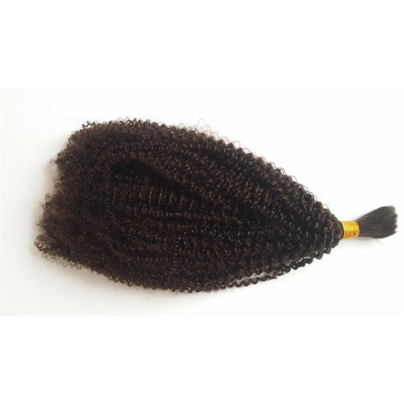 4b 4c Bulk Human Hair for Braiding Peruvian Afro Kinky Curly Bulk Hair Extensions No Attachment FDSHINE