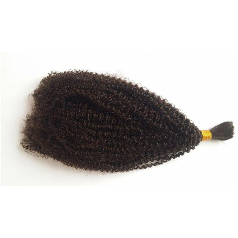 4b 4c massa dei capelli umani intrecciatura peruviano Afro crespo ricci massa dei capelli di estensioni No Attrezzatura FDSHINE