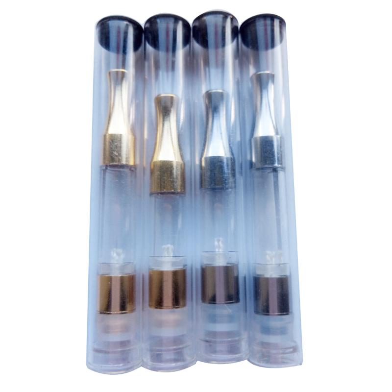 G2 Cartridge NEWEST Chrome Metal Tip Food Grade Clear Plastic Tube Metal CE3 Vaporizer Wax Oil No Leak For Bud Touch Vaporizer Pen