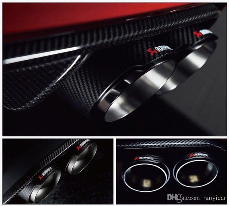 Новый стиль 51 мм вход 89 мм выход Akrapovic углеродного волокна выхлопной наконечник / глушитель из нержавеющей стали выхлопной трубы автомобиля