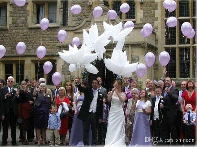 Big Size 95x42cm Helium Pigeon Wedding Balloon Eco Flying White Dove Balloon for Party Decoration White Pigeon Balloon