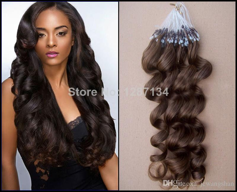 Micro Loop Ring Hair Extensions 100g Micro Ring Extensions Brazilian
