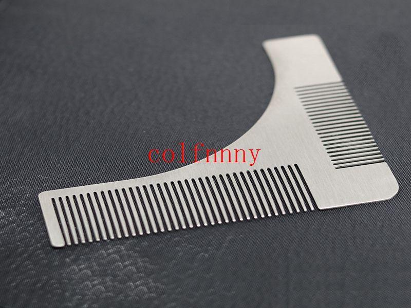 / acier inoxydable Beard Beard Toile de coiffeur à la main coupé à la main Moulage de moulage de cheveux à la main Modèle de garniture de barbe