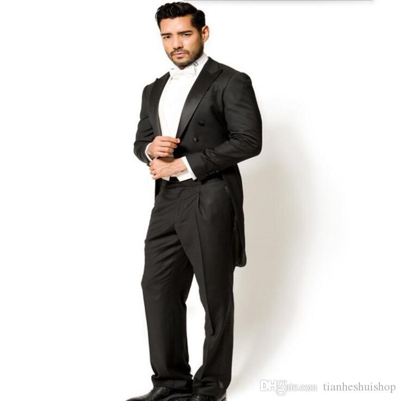 Hot Sale Wedding Groom suits Tuxedos elegant Gentleman tailor made Man Suit prom dinner suit tuxedosJacket +pants+vest
