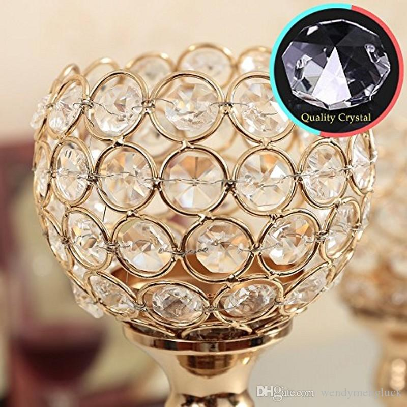 Crystal Metal Candle Holder Wedding Party Supplies Christmas Holiday Home Decoration Table Candlestick Centerpieces,Best Housewarming Gifts