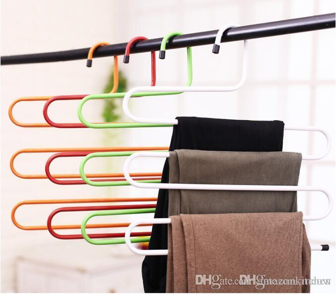 Giant S Shape Trousers Neat Metal Pants Hangers Closet Storage For Jeans  Trousers Space Saver Storage Rack Hangers Closet Jeans Online With  $3.81/Piece On ...