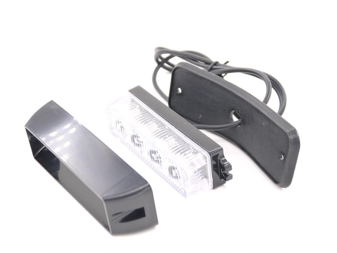 4 LED Car Emergency Beacon Light 12V lampeggiante 4W 12V / 24V Led Strobe Light Universal Fit Hazard Truck ROSSO Blu Ambra Bianco