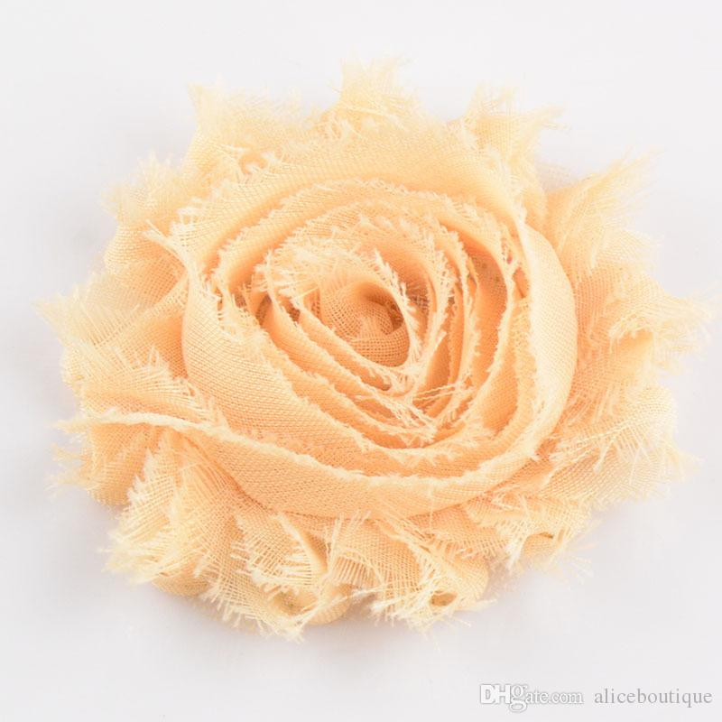 U Pick 2.5 Inch Chic Chiffon Shabby Frayed Rose Fabric Flowers Hair Accessories DIY Craft Supplies H071