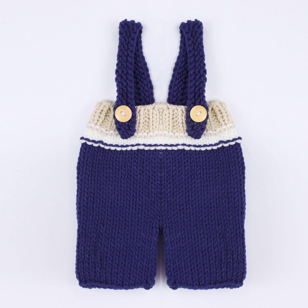 Newborn Photography Props Baby Boys Girls Handmade Crochet Kintted Hat+Pants 2pcs/Set Baby Beanie Prop Accessories Winter Autumn