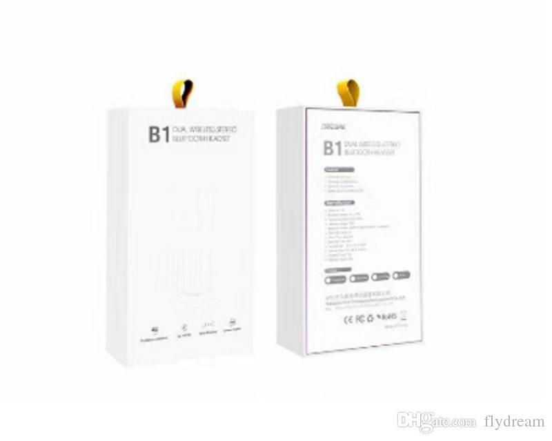 Sıcak B1 Bluetooth kulaklıklar Kulak Kulaklık 4 renk ile Şarj hattı, manuel ve RetailBox DHL ÜCRETSIZ