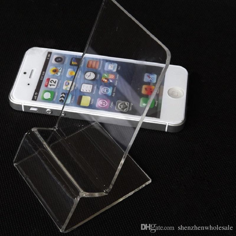 DHL livraison rapide acrylique téléphone portable de téléphone portable  présentoir support pour 6inch téléphone intelligent samsung HTC