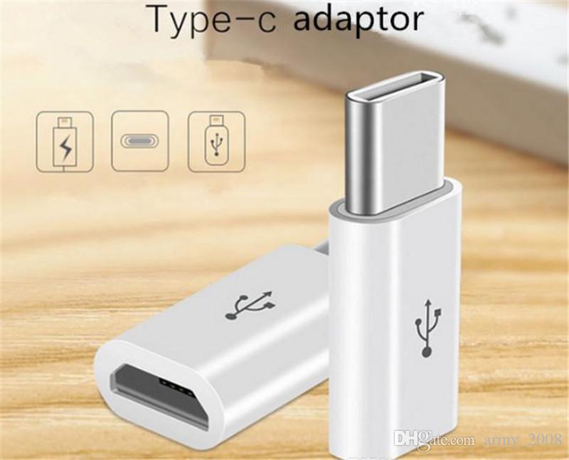 Micro usb a tipo c Adaptador Cargador de cable USB para Macbook xiaomi mi4c Nexus 5X USB