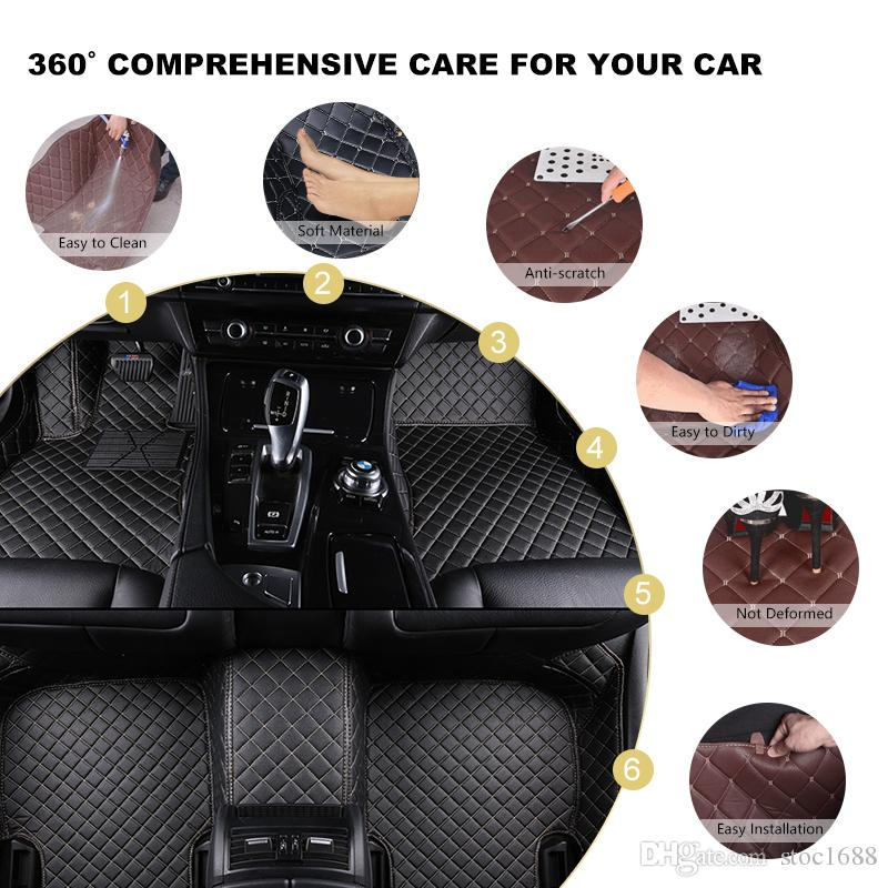 SCOT All Weather Leather Car Floor Mats for Audi A4 Waterproof Anti-slip 3D Front & Rear Carpet Custom-Fit Right-Hand-Driver-Model