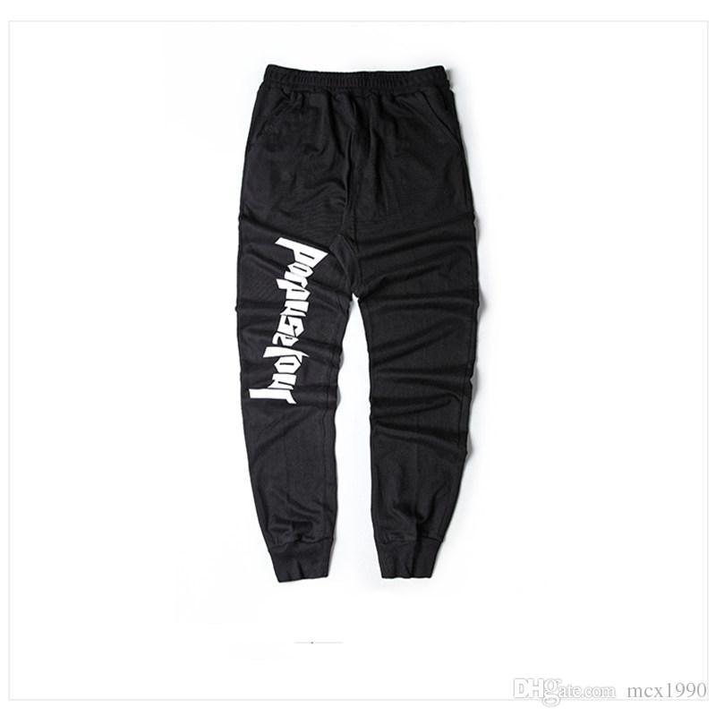 Nuovi uomini di arrivo all'ingrosso Pantaloni di moda di gomma elastico inferiore cerniera laterale pantaloni casual tuta Trave piede pantaloni pantaloni irregolari