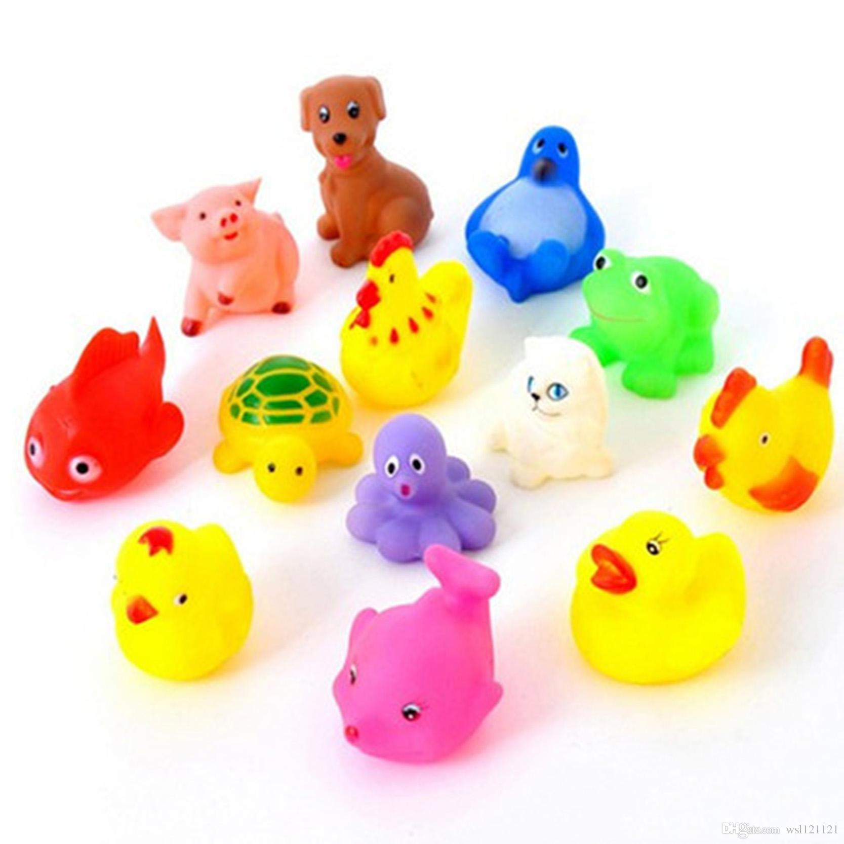 2018 Cute Soft Rubber Duck Float Squeeze Sound Baby Wash Bath Toys