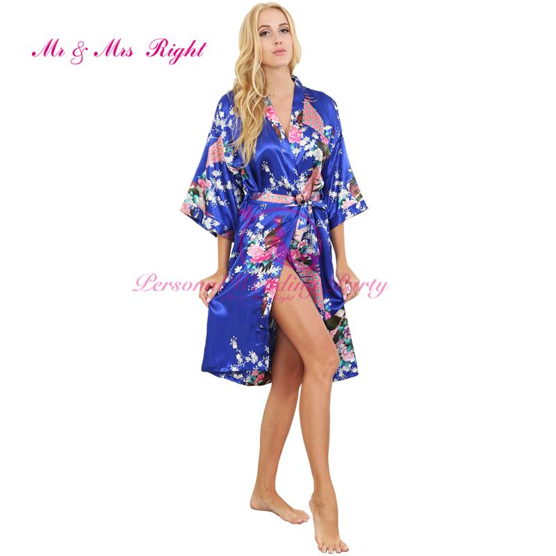f4c692f33e 2019 Wholesale Fashion Silk Bathrobe Women Satin Kimono Nightgown For Women  Floral Robe Bridesmaids Long Kimono Bride Silk Robe Dressing Gown From  Pamele