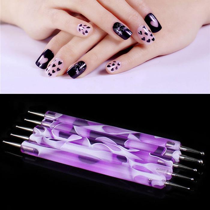 Wholesale- Duble-End 2 Way Dotting Pen Nail Art Design Set Dotting ...
