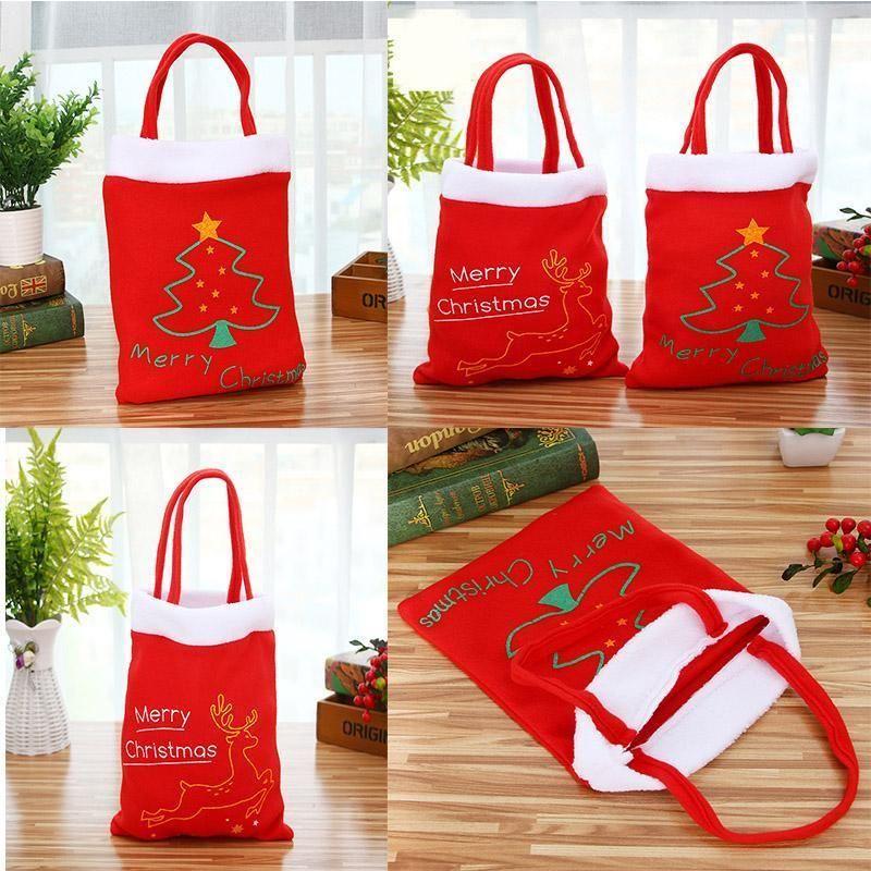 New Merry Christmas Candy Bag Kids Xmas Cloth Bag Christmas Tree ...