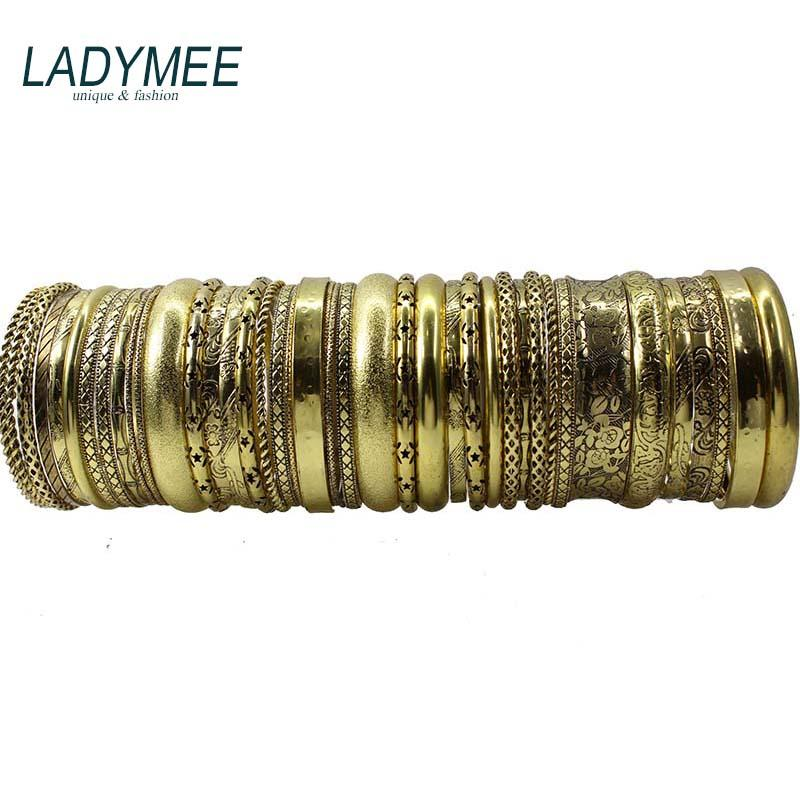 Bracelets En Or Braceles pour Femmes Bijoux Indiens Pulseiras Bracelet Jonc Bracelet Jonc Bracelet Indiens En Gros Mélanger