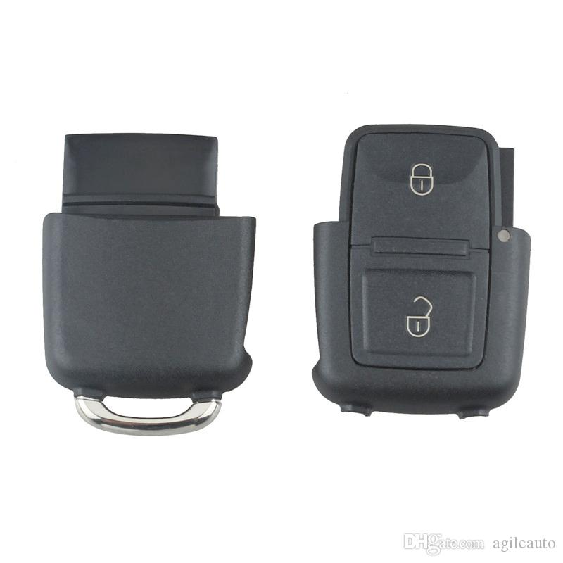 Wholesale 2 Buttons Smart Remote Replacement Key Case No Chip with Uncut Car Flip Key for Volkswagen BORA GOLF MK4 CIA_40K