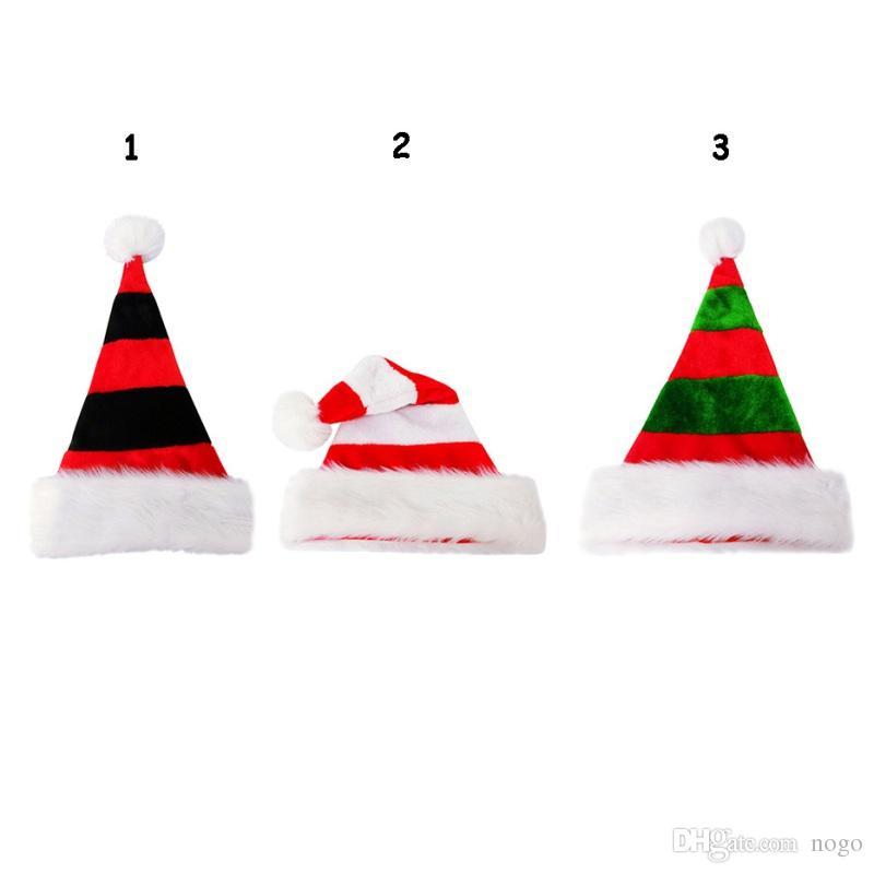1 stück Hohe Qualität Weihnachten Weihnachtsmann Rote Hüte Caps Für Erwachsene Und Kinder Neujahrsgeschenke Home Party Supplies