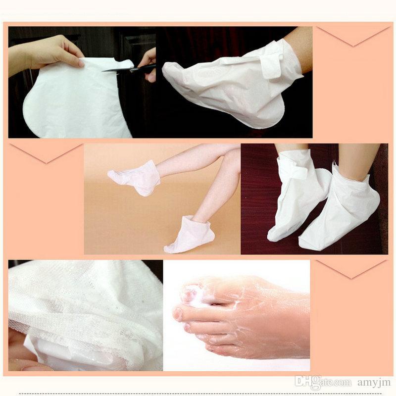 wholesale DHL BIOAQUA feet mask Milk and Bamboo Vinegar foot Mask skin Peeling Exfoliating regimen for Feet care Honey nourishing