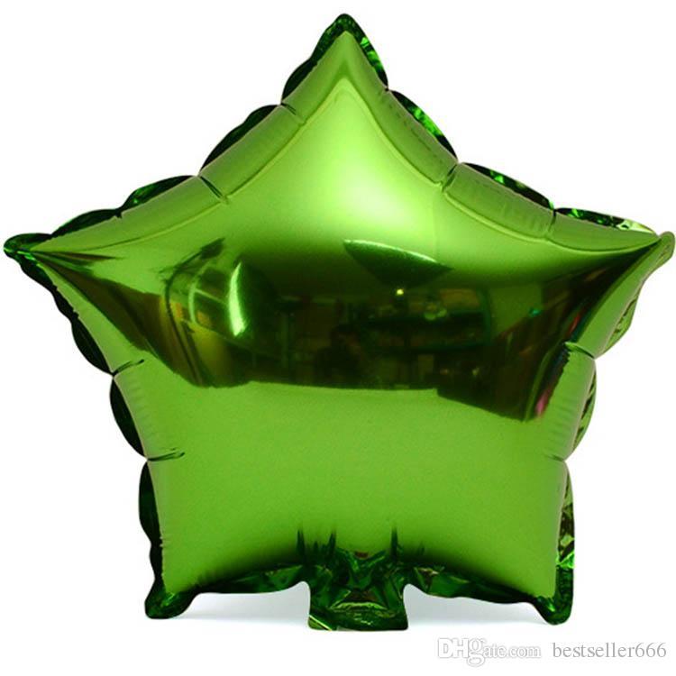 50 adet / grup Folyo Yıldız Balon Düğün Büyük alüminyum Şişme Folyo balonlar hediye Helyum Balon Doğum Günü Partisi Dekorasyon Topu
