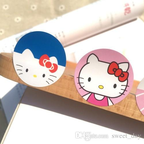 super cute hello kitty/melody round sticker stickers DIY decorative sealing paster kids baby girl favors supply